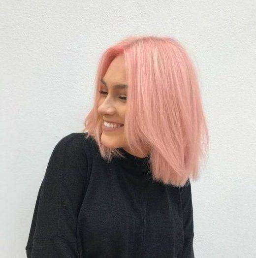 Pixie kurze rosa Haare