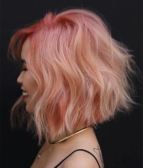 roségoldenes Haar