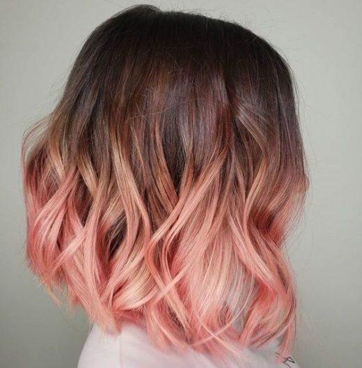 ombre rosa haare